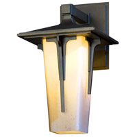 Hubbardton Forge 305705-1028 Modern Prairie 1 Light 13 inch Coastal Burnished Steel Outdoor Sconce