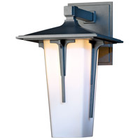 Hubbardton Forge 305710-1027 Modern Prairie 1 Light 16 inch Coastal Burnished Steel Outdoor Sconce Large