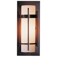 Hubbardton Forge 305892-1024 Banded 1 Light 12 inch Coastal Dark Smoke Outdoor Sconce Small
