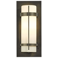Hubbardton Forge 305893-1024 Banded 1 Light 16 inch Coastal Dark Smoke Outdoor Sconce