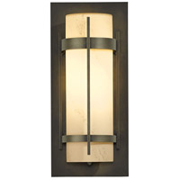 Hubbardton Forge 305893-1025 Banded 1 Light 16 inch Coastal Dark Smoke Outdoor Sconce
