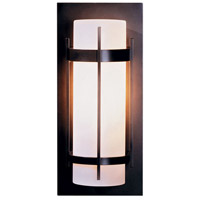 Hubbardton Forge 305893-1015 Banded 1 Light 16 inch Natural Iron Outdoor Sconce