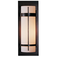 Hubbardton Forge 305894-1015 Banded 1 Light 21 inch Natural Iron Outdoor Sconce Large