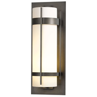 Hubbardton Forge 305895-1045 Banded LED 26 inch Natural Iron Outdoor Sconce, Extra Large