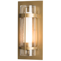 Hubbardton Forge 305897-1000 Banded 1 Light 16 inch Coastal Black Outdoor Sconce