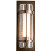 Hubbardton Forge 305898-1000 Banded 1 Light 21 inch Coastal Black Outdoor Sconce, Large