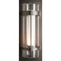 Hubbardton Forge 305899-1005 Banded 1 Light 26 inch Coastal Dark Smoke Outdoor Sconce