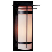 Hubbardton Forge 305994-1015 Banded 1 Light 20 inch Natural Iron Outdoor Sconce Large with Top Plate