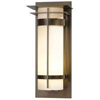 Hubbardton Forge 305995-1021 Banded 1 Light 26 inch Coastal Bronze Outdoor Sconce Extra Large with Top Plate