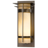 Hubbardton Forge 305995-1022 Banded 1 Light 26 inch Coastal Bronze Outdoor Sconce Extra Large with Top Plate