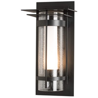Hubbardton Forge 305997-1000 Banded 1 Light 16 inch Coastal Black Outdoor Sconce