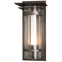Hubbardton Forge 305998-1005 Banded 1 Light 20 inch Coastal Dark Smoke Outdoor Sconce, Large