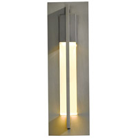 Hubbardton Forge 306401-1009 Axis 1 Light 15 inch Coastal Burnished Steel Outdoor Sconce Small