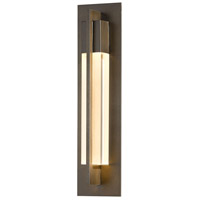 Hubbardton Forge 306403-1007 Axis 1 Light 19 inch Coastal Bronze Outdoor Sconce