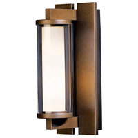 Hubbardton Forge 306450-1007 Fuse 1 Light 12 inch Coastal Bronze Outdoor Sconce Small