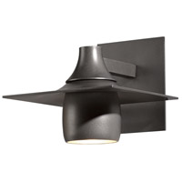 Hubbardton Forge 306563-1009 Hood 1 Light 7 inch Coastal Burnished Steel Outdoor Sconce
