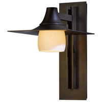 Hubbardton Forge 306565-1022 Hood 1 Light 16 inch Coastal Bronze Outdoor Sconce Large