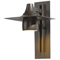 Hubbardton Forge 306567-1007 Hood 1 Light 16 inch Coastal Bronze Outdoor Sconce Large