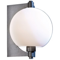 Hubbardton Forge 306603-1018 Pluto 1 Light 11 inch Coastal Burnished Steel Outdoor Sconce