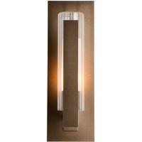 Hubbardton Forge 307281-1004 Vertical Bar 1 Light 15 inch Coastal Bronze Outdoor Sconce