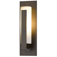 Hubbardton Forge 307285-1021 Forged Vertical Bars 1 Light 15 inch Coastal Bronze Outdoor Sconce Small