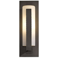 Hubbardton Forge 307286-1024 Forged Vertical Bars 1 Light 19 inch Coastal Dark Smoke Outdoor Sconce
