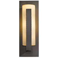 Hubbardton Forge 307286-1025 Forged Vertical Bars 1 Light 19 inch Coastal Dark Smoke Outdoor Sconce