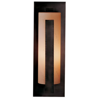 Hubbardton Forge 307287-1025 Forged Vertical Bars 1 Light 24 inch Coastal Dark Smoke Outdoor Sconce Large