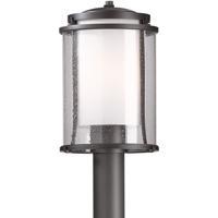 Hubbardton Forge 345610-1024 Meridian 1 Light 14 inch Coastal Dark Smoke Outdoor Post Light