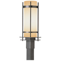 Hubbardton Forge 345895-1015 Banded 1 Light 22 inch Natural Iron Outdoor Post Light