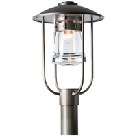Hubbardton Forge 347295-1004 Erlenmeyer 1 Light 17 inch Coastal Dark Smoke Outdoor Post Light