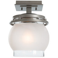 Hubbardton Forge 354341-1013 Bay 1 Light 8 inch Coastal Burnished Steel Outdoor Semi-Flush Mount