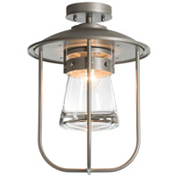 Hubbardton Forge 356015-1005 Erlenmeyer 1 Light 12 inch Coastal Burnished Steel Outdoor Semi-Flush