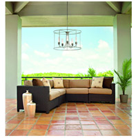 Hubbardton Forge 362010-1018 Portico Drum 5 Light 32 inch Coastal Bronze Outdoor Pendant
