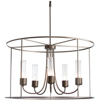 Hubbardton Forge 362010-1019 Portico Drum 5 Light 32 inch Coastal Bronze Outdoor Pendant