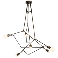 Hubbardton Forge 362015-1007 Divergence 6 Light 54 inch Coastal Bronze Outdoor Pendant