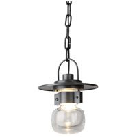 Hubbardton Forge 363001-1009 Mason 1 Light 7 inch Coastal Burnished Steel Outdoor Hanging Lantern Small