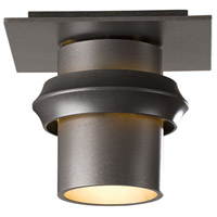 Hubbardton Forge 364901-1009 Twilight 1 Light 6 inch Coastal Burnished Steel Outdoor Semi-Flushmount Small