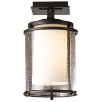 Hubbardton Forge 365605-1007 Meridian 1 Light 8 inch Coastal Bronze Outdoor Semi-Flushmount