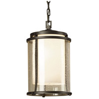 Hubbardton Forge 365615-1008 Meridian 1 Light 10 inch Coastal Dark Smoke Outdoor Hanging Lantern Large