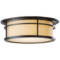 Hubbardton Forge 365650-1025 Province 2 Light 15 inch Coastal Dark Smoke Outdoor Flushmount
