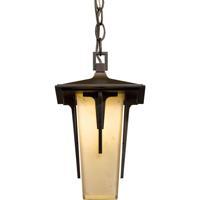 Hubbardton Forge 365705-1019 Modern Prairie 1 Light 8 inch Coastal Mahogany Outdoor Pendant