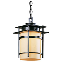 Hubbardton Forge 365892-1025 Banded 1 Light 8 inch Coastal Dark Smoke Outdoor Hanging Lantern Small