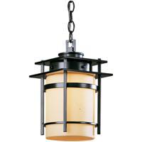 Hubbardton Forge 365892-1025 Banded 1 Light 8 inch Coastal Dark Smoke Outdoor Hanging Lantern Small
