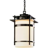 Hubbardton Forge 365894-1024 Banded 1 Light 14 inch Coastal Dark Smoke Outdoor Hanging Lantern Large