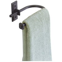 Metra 9 inch Black Towel Holder