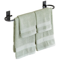 Metra 21 inch Natural Iron Towel Holder
