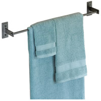 Metra 26 inch Black Towel Holder