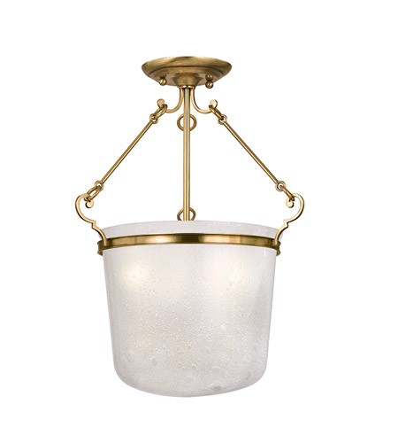 Hudson Valley Lighting Amenia 3 Light Semi Flush in Aged Brass 1030-AGB photo