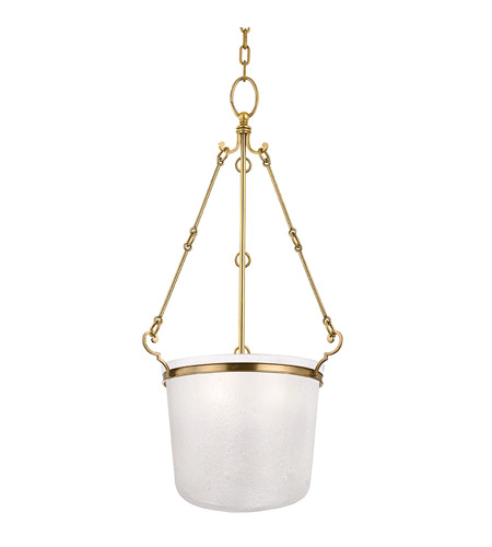 Hudson Valley Lighting Amenia 3 Light Pendant in Aged Brass 1033-AGB photo